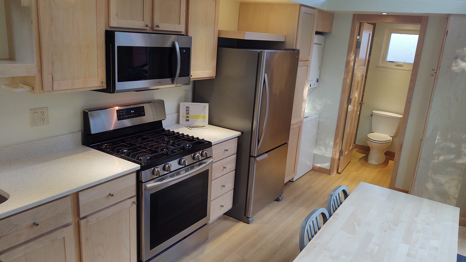 Kitchen with Full Size Appliances + Washer/Dryer