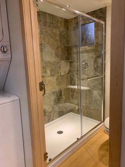 Optional tile shower