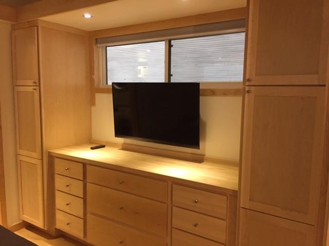 Custom Cabinetry + Smart TV in MB