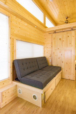 Built in couch with storage