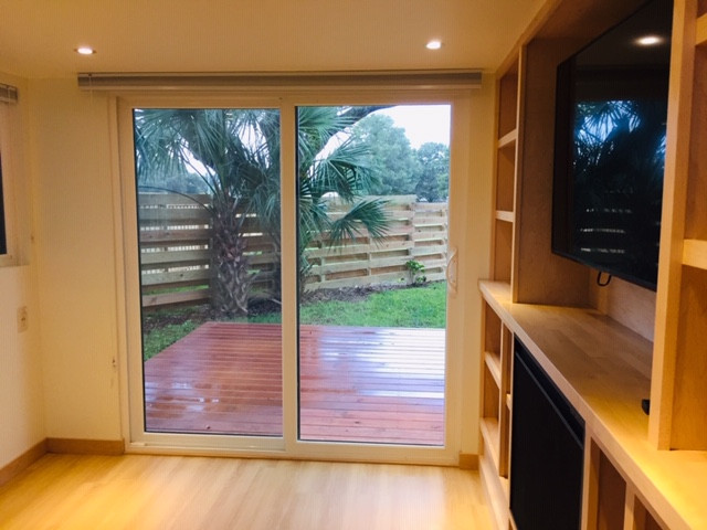 Sliding Patio Door Out to Deck