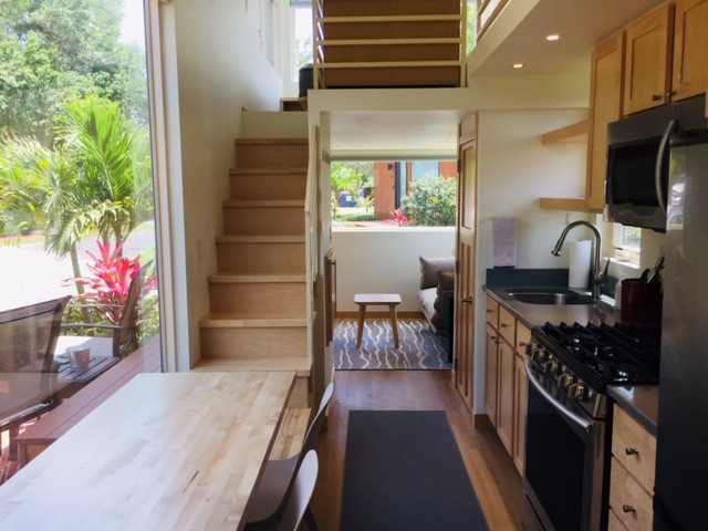 Open Living Area with Staircase