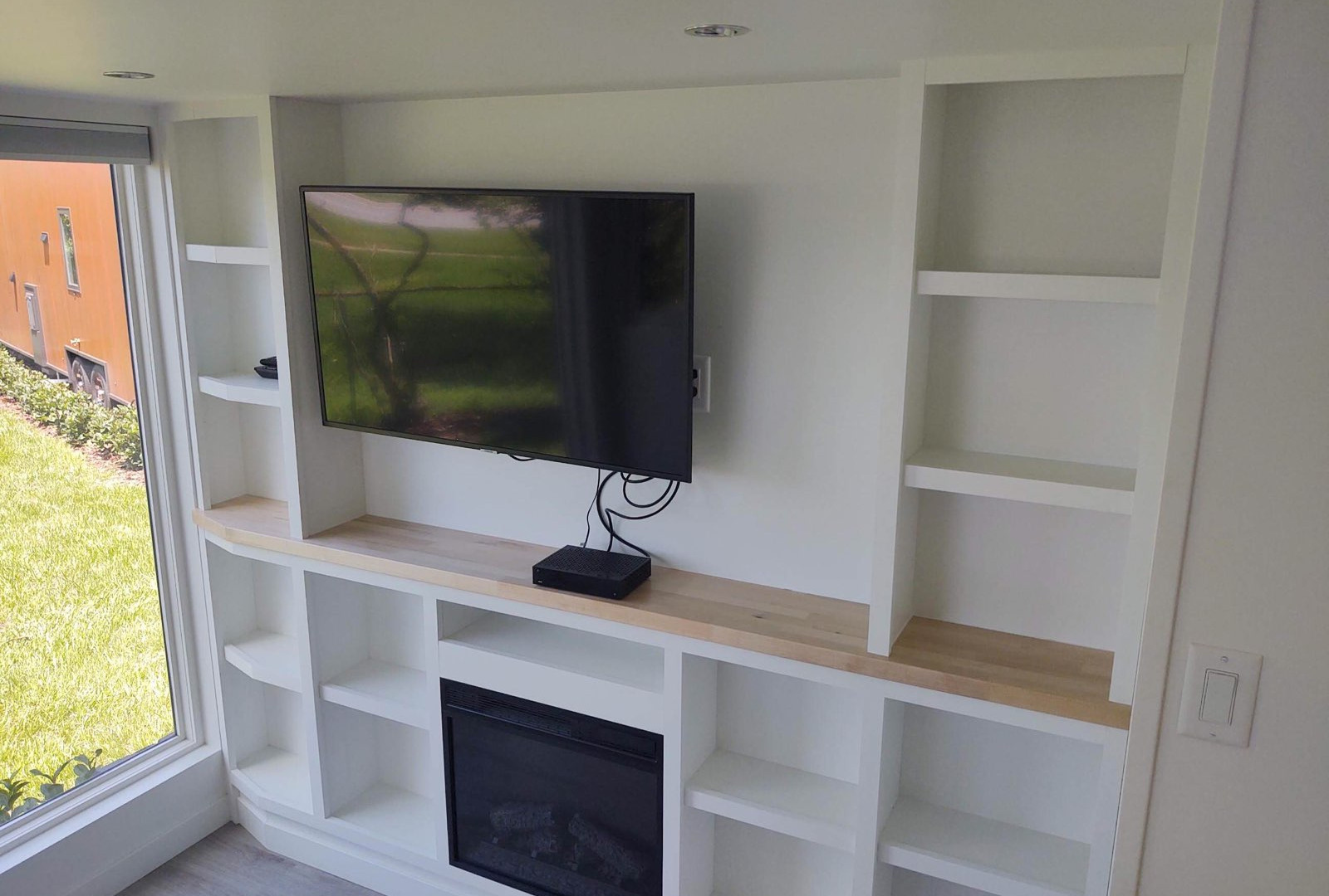 Entertainment Wall with Fireplace