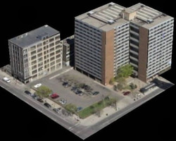 Oblique Aerial Imagery Multistorey Building