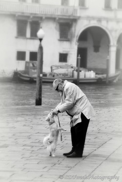 Venice Man and Dog