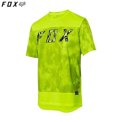 Fox Ranger Dri-release Short Sleeve Jersey - neon yellow