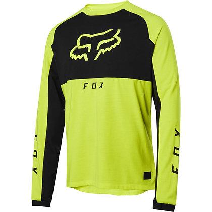 Fox Ranger Dri-release Long Sleeve Jersey - neon yellow