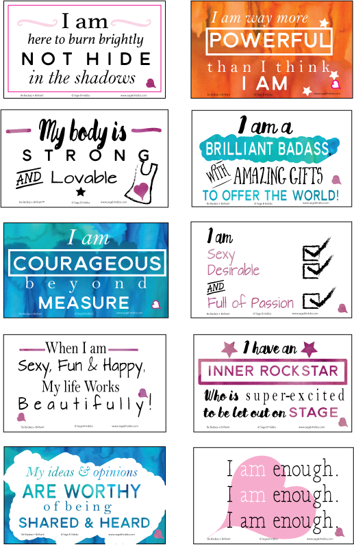 Affirmation card design