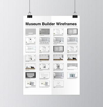 Museum Builder wireframes
