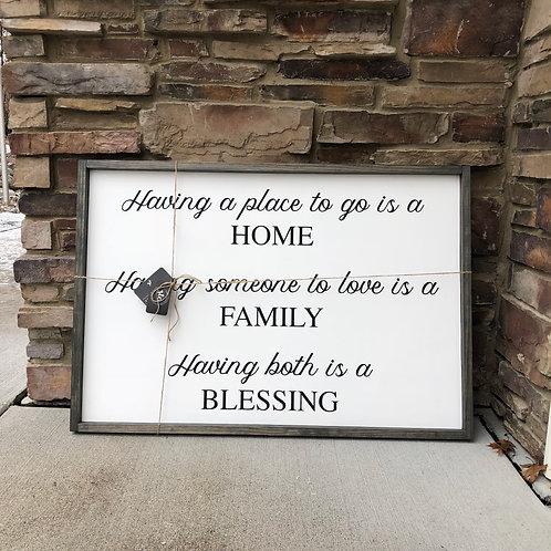 Home, Family, Blessing