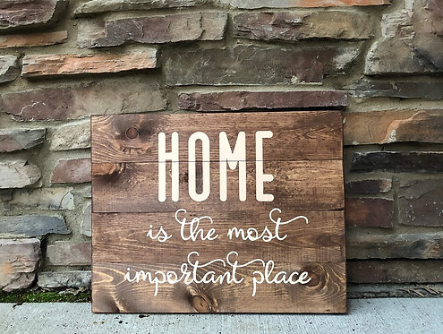 Home is the most important place