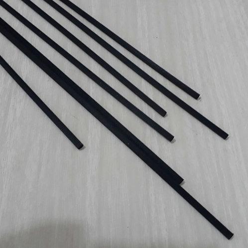 Vareta Fibra Preta Grossa 25 cm-  210063
