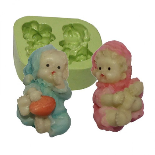 Forma de silicone Bebês Mini  (2 cav.) 164735