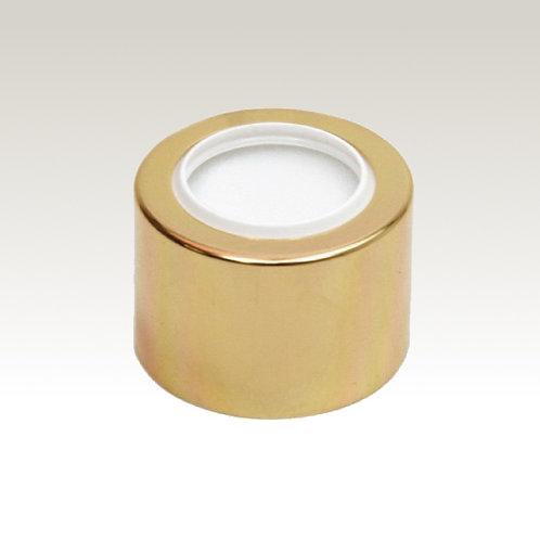 Tampa Luxo Dourada R24/410 com furo - 100155