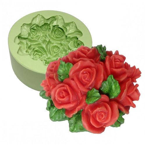 Forma de silicone Ramalhete de Rosas - 160105