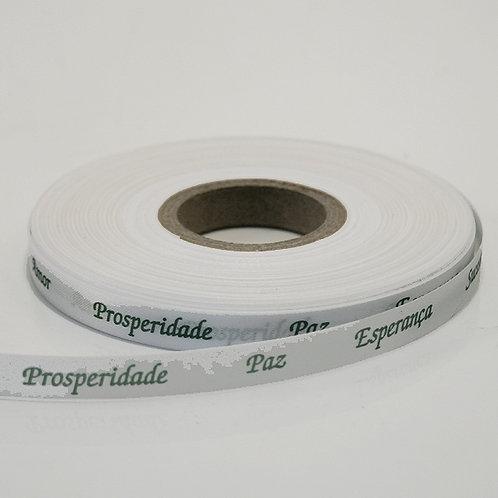 Fita Prosperidade - branca com verde - 050200
