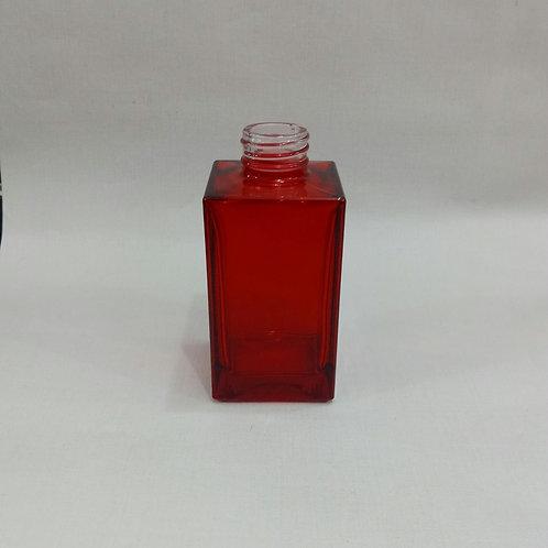 Frasco Mini Square Vermelho 140 ml  R 28- 020189