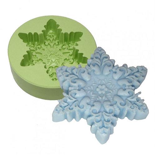 Forma de siliconeFloco de Neve Florido - 161122