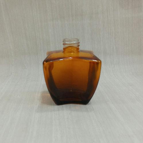 Frasco de Vidro Difusor X Pintado Marrom ouro 022992