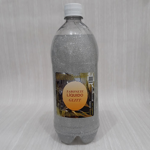 Base Sabonete Liquido Gel Glitter Prata BT 1 Litro - 060138
