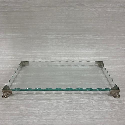 Bandeja de vidro Elegance 13x22 - 040045