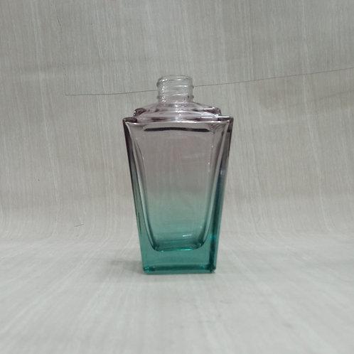 Frasco de Vidro para Perfume Trapézio Degradee Rosa/verde R24  022016