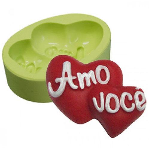 Forma de silicone Coração Amo Vc - 165052