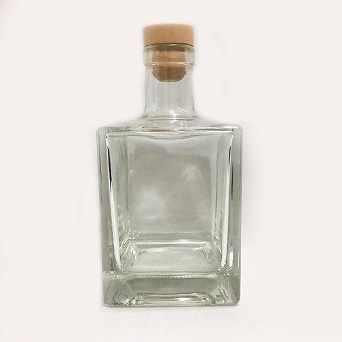 Frasco de Vidro Qbic C/TAMPA NATURAL 500 ml