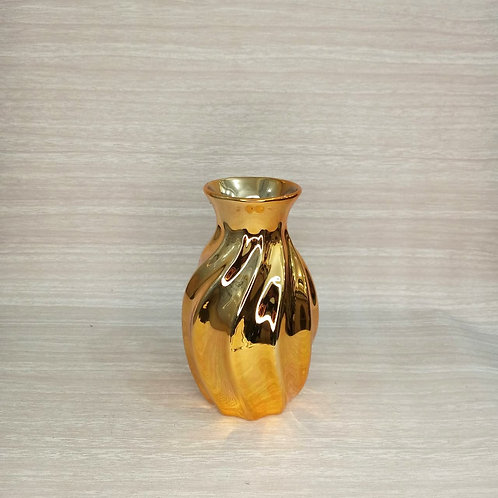 Vaso Torcido Dourado- 180215