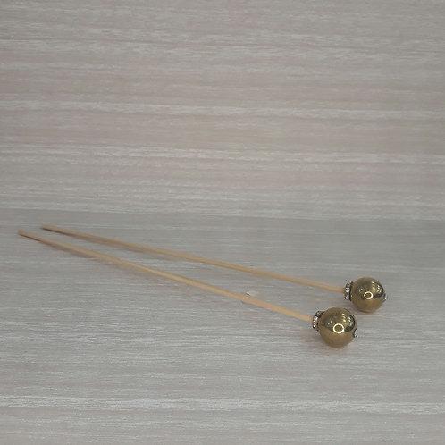 Vareta Perola G Metalica Dourada- 210064