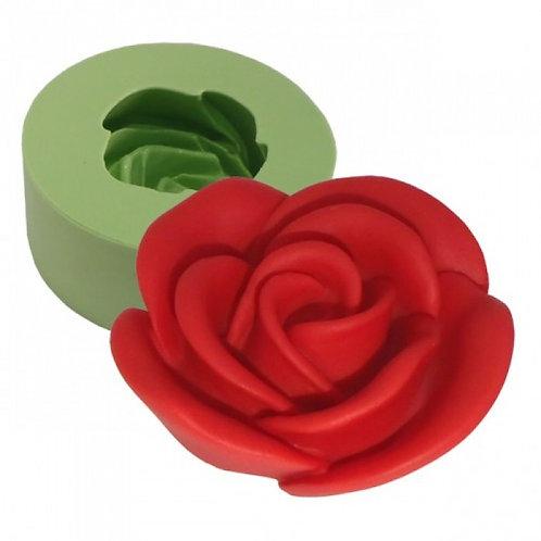 Forma de silicone Rosa Desabrochando 167341
