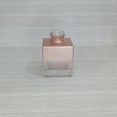 Frasco de Vidro Mini Cubo Deg. Cobre (100ml/ R28)- 020376