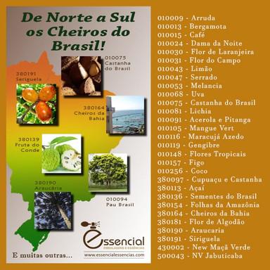 De Norte a Sul, os Cheiros do Brasil