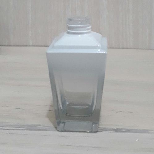 Frasco de Vidro p/ Perfume Trapezio Degradee Branco  R24-  022016