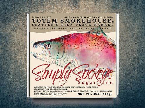 4 oz Simply Sockeye Sugar Free Wild Smoked Salmon Gift Box