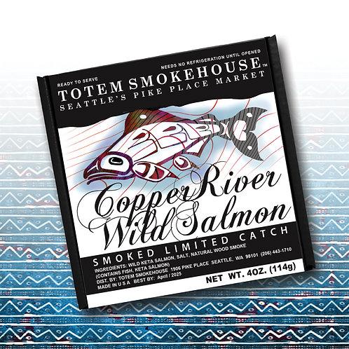 4 oz Smoked Wild Copper River Salmon Fillet Gift Box