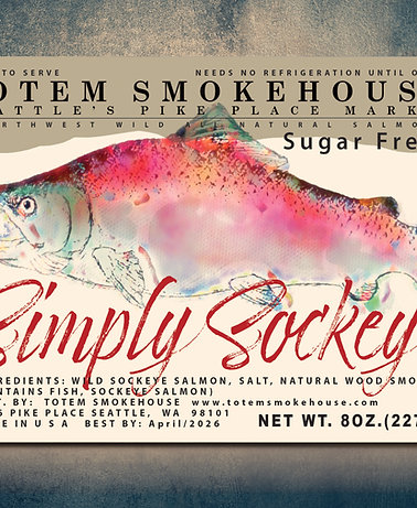 8 oz Simply Sockeye Sugar Free Wild Smoked Salmon Gift Box