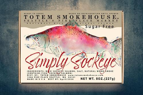 8 oz Simply Sockeye Sugar Free Wild Smoked Salmon Gift Box