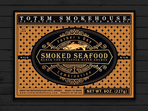 8 oz Smoked Seafood Father's Day Combination Gift Box