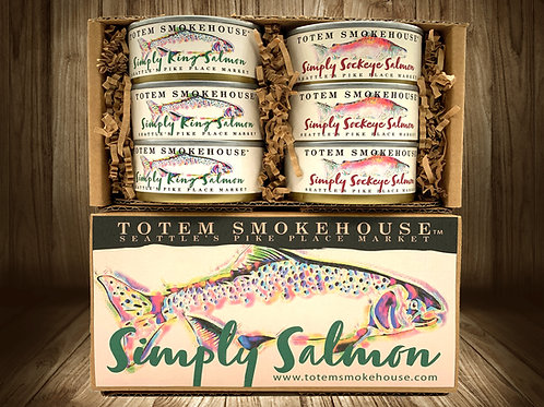 18 oz No Salt Wild Simply Salmon Sampler Gift Box