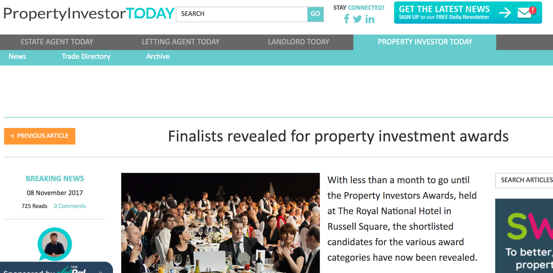 Property Investor Today - Finalists Revealed