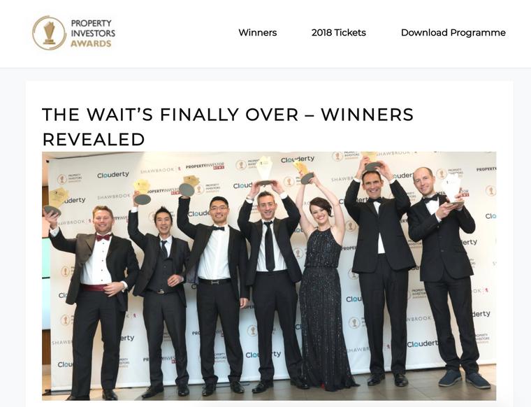 Property Investors Awards Winners!