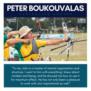 Peter Boukouvalas Australian Archery Rep