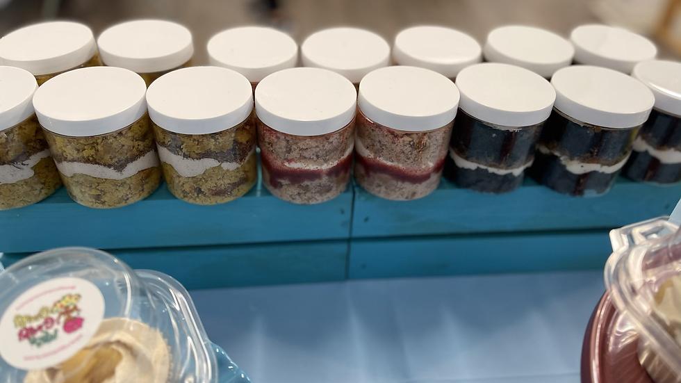 Cake Jars - 2 pack (8 oz each)