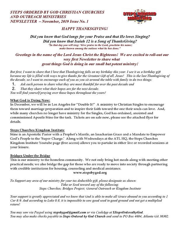 STEPS ORDERED CHURCHES NEWSLETTER NOV 20
