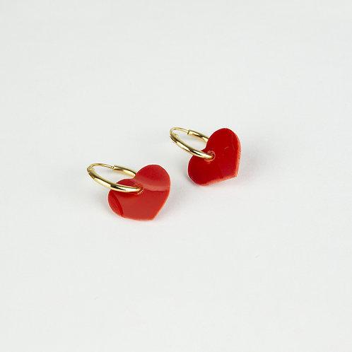 Orecchino nanoHoop Rosso