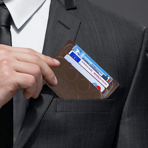Porta Carte Legno - Marrone Bullonato