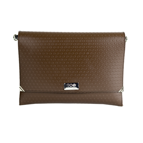 Clutch con Tracolla Brown Dot