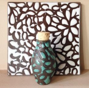 Bottle and Ceramic Tile