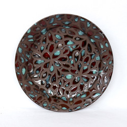Speckled Floral Plate